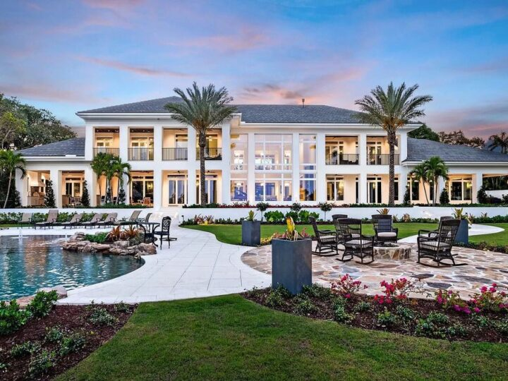 The Stuart Home is a magnificent St. Lucie River estate resting majestically on 2.4 Acres with the exquisite interior now available for sale. This home located at 3884 SE Old Saint Lucie Blvd, Stuart, Florida; offering 5 bedrooms and 9 bathrooms with over 13,000 square feet of living spaces.