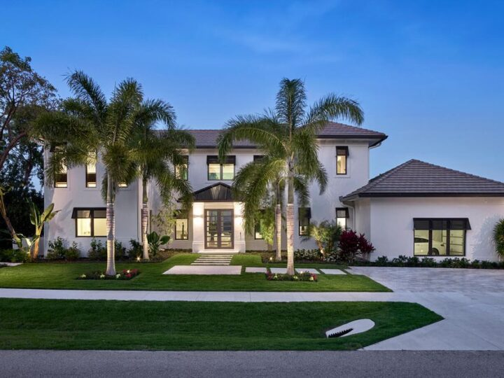 The Home on Marco Island is a Incredible island sanctuary nestled along the natural shoreline of Barfield Bay now available for sale. This home located at 899 Caxambas Dr, Marco Island, Florida; offering 5 bedrooms and 5 bathrooms with over 6,000 square feet of living spaces.
