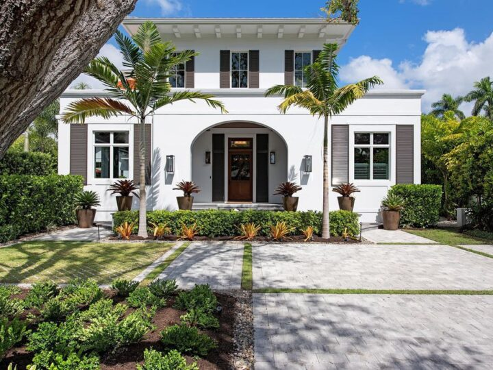 Classic Floridian style home situated at the heart of Old Naples, Florida