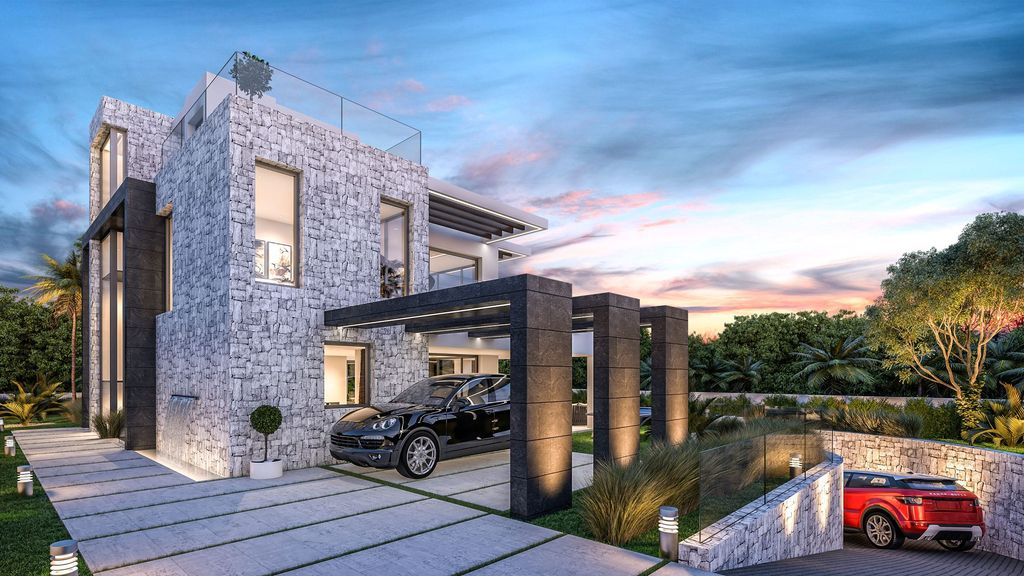 Conceptual Design of Villa Origami is a project located in Spain was designed in conceptual stage by B8 Architecture and Design Studio in Modern style; it offers luxurious modern living with 5 bedrooms and 5 bathrooms.