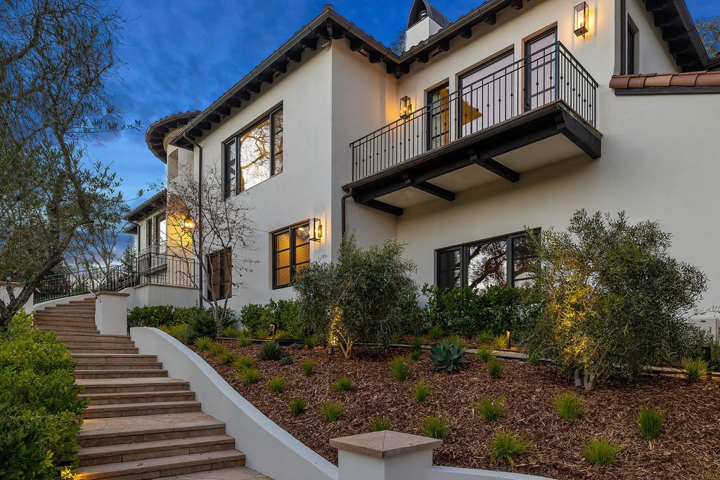 The Contemporary Mediterranean Villa in Kentfield is a luxurious residence offers high ceilings, a clean interior, and views now available for sale. This home located at 1 Hotaling Ct, Kentfield, California; offering 6 bedrooms and 5 bathrooms with over 6,000 square feet of living spaces.