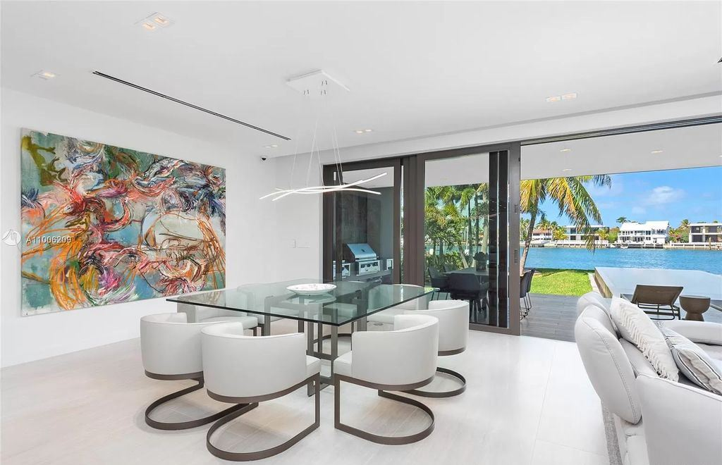The Waterfront Home in Miami Beach is a new construction masterpiece located in gated community of Normandy Shores now available for sale. This home located at 305 N Shore Dr, Miami Beach, Florida; offering 5 bedrooms and 8 bathrooms with over 5,233 square feet of living spaces.