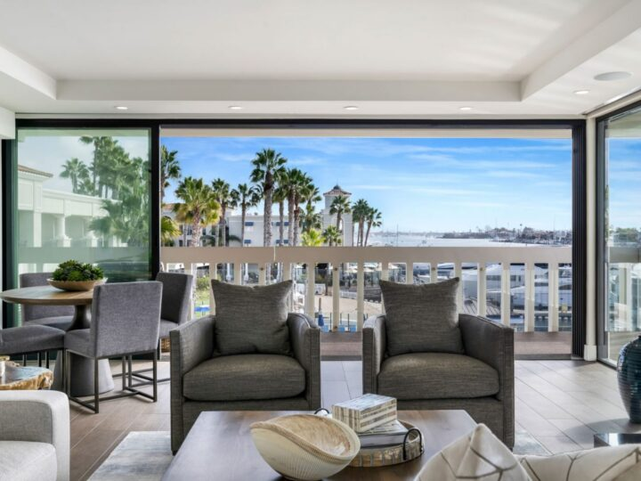 Luxury interior design of Bright Balboa Bay Resort by Bassman Blaine Home