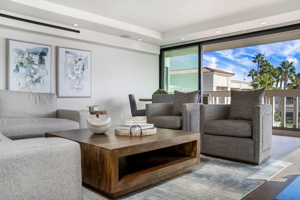 Luxury interior design of Bright Balboa Bay Resort by Bassman Blaine Home