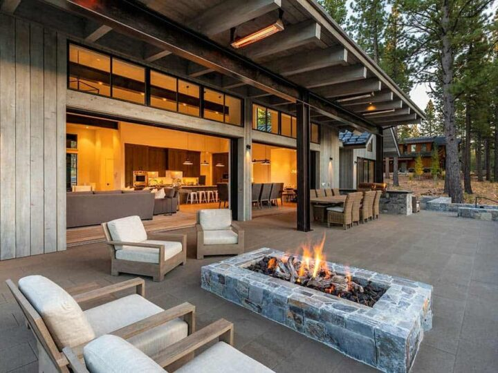 Martis Camp Unique home in Truckee with over 700 square feet of terrace