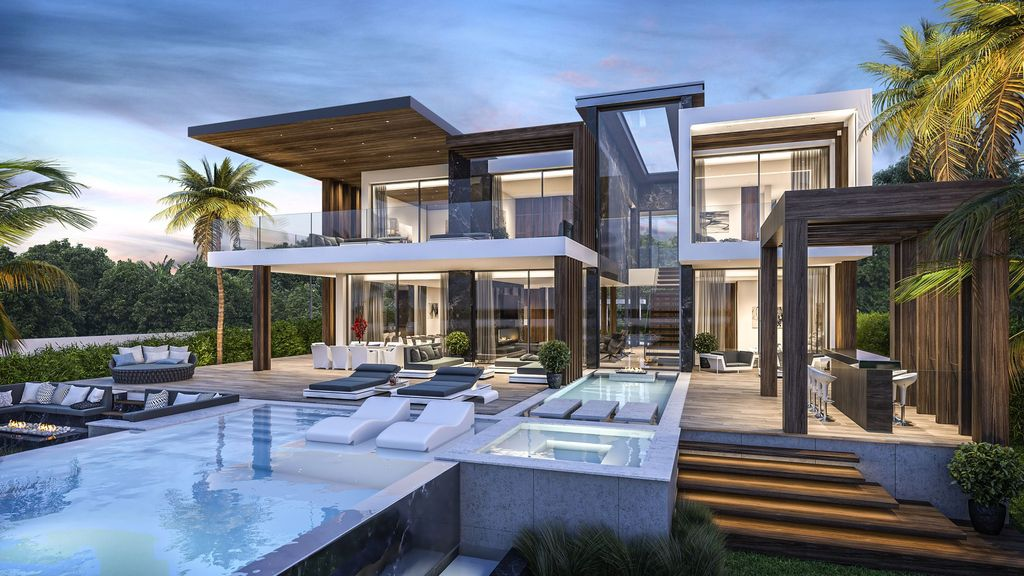 Concept Design of Villa Quantum is a project located in Benahavis, Spain was designed in conceptual stage by B8 Architecture and Design Studio in Modern style; it offers luxurious modern living with 5 bedrooms on 3 levels.