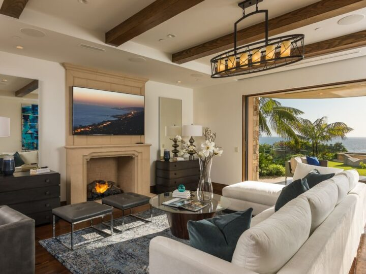 Santa Barbara style estate in Emerald Bay with Pacific's unobstructed view