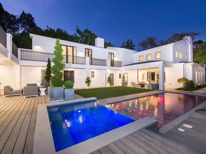 The Contemporary Home is a stylish and sophisticated estate provides the perfect combination of indoor and outdoor living now available for sale. This home located at 1387 N Doheny Dr, Los Angeles, California; offering 4 bedrooms and 8 bathrooms with over 7,700 square feet of living spaces.