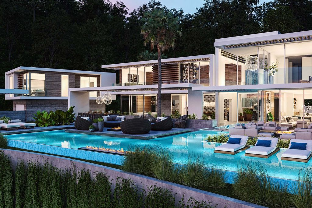 Haslam Home Concept is a project located in Los Angeles, California was designed in concept stage by David Hiller Studio in Modern style; it offers luxurious modern living on hillside.