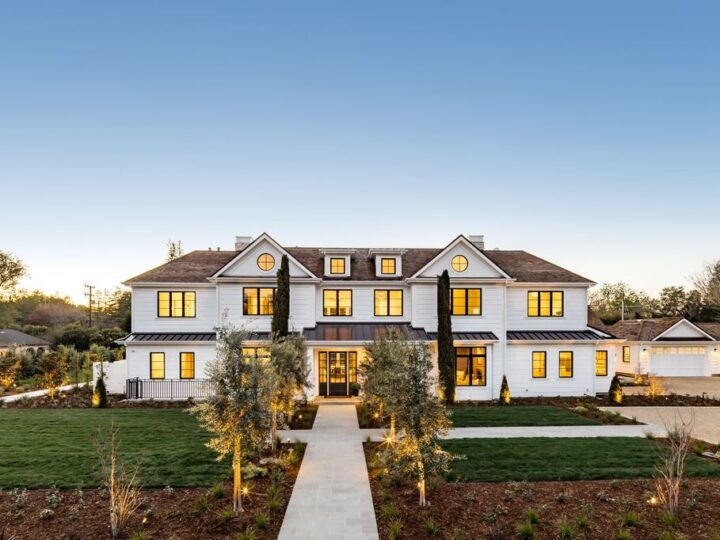 The House in Atherton is a grand estate offers the ultimate in high-end luxury while providing an unmatched living experience now available for sale. This home located at 55 Irving Ave, Atherton, California; offering 8 bedrooms and 11 bathrooms with over 10,500 square feet of living spaces.