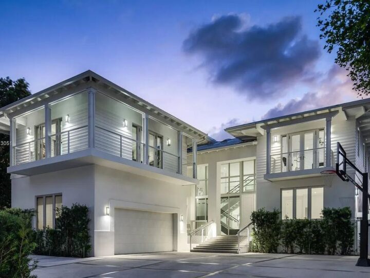 The Bay Harbor Islands Home has a thoughtfully designed indoor & outdoor integrated living space boasting wide open bay views now available for sale. This home located at 10000 W Broadview Dr, Bay Harbor Islands, Florida; offering 8 bedrooms and 9 bathrooms with over 7,600 square feet of living spaces.
