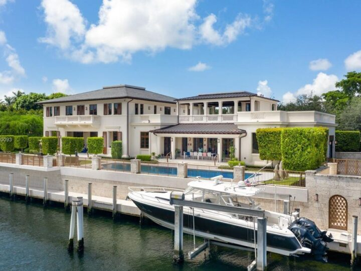 The Waterfront Home in Coral Gables with top of the line materials and exquisite finish where inspiration meets sophistication now available for sale. This home located at 6901 Granada Blvd, Coral Gables, Florida; offering 6 bedrooms and 11 bathrooms with over 8,500 square feet of living spaces.