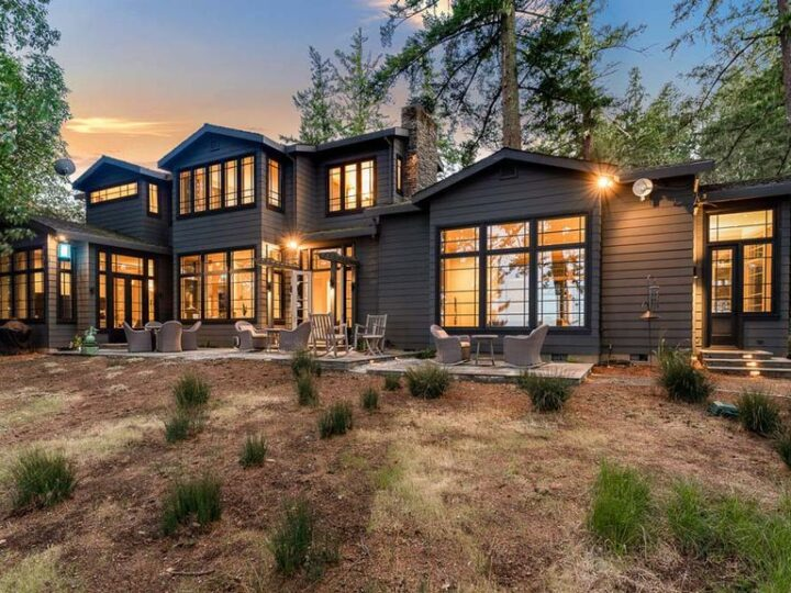 The Architectural Home in Woodside is on a extraordinary setting has a backdrop of dazzling San Francisco Bay views now available for sale. This home located at 1090 Bear Gulch Rd, Woodside, California; offering 3 bedrooms and 4 bathrooms with over 5,400 square feet of living spaces.
