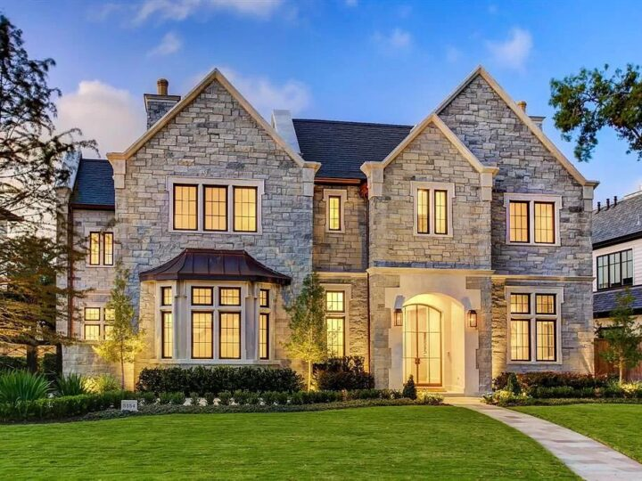 The Home in Houston is an English countryside styled estate in prestigious Tanglewood neighborhood featuring timeless architecture now available for sale. This home located at 5554 Longmont Dr, Houston, Texas; offering 4 bedrooms and 7 bathrooms with over 9,100 square feet of living spaces.