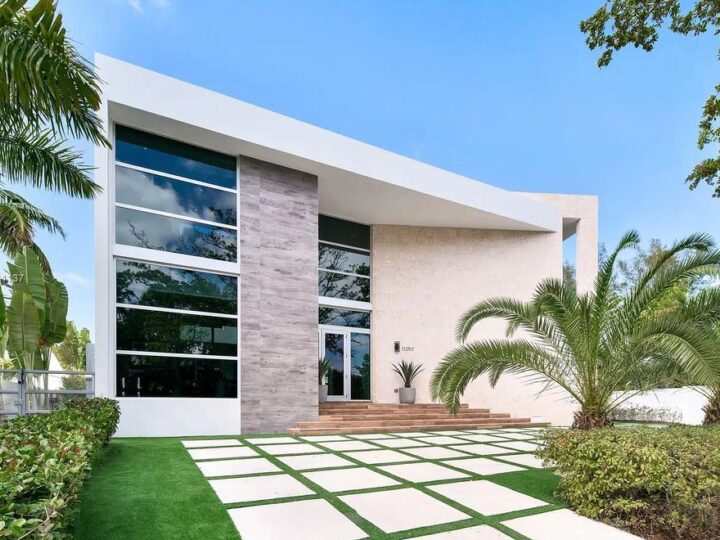 The Home in Miami Beach is a modern masterpiece with only the finest fixtures, finishes, and amenities now available for sale. This home located at 13250 Biscayne Bay Dr, North Miami, Florida; offering 5 bedrooms and 5 bathrooms with over 4,500 square feet of living spaces.