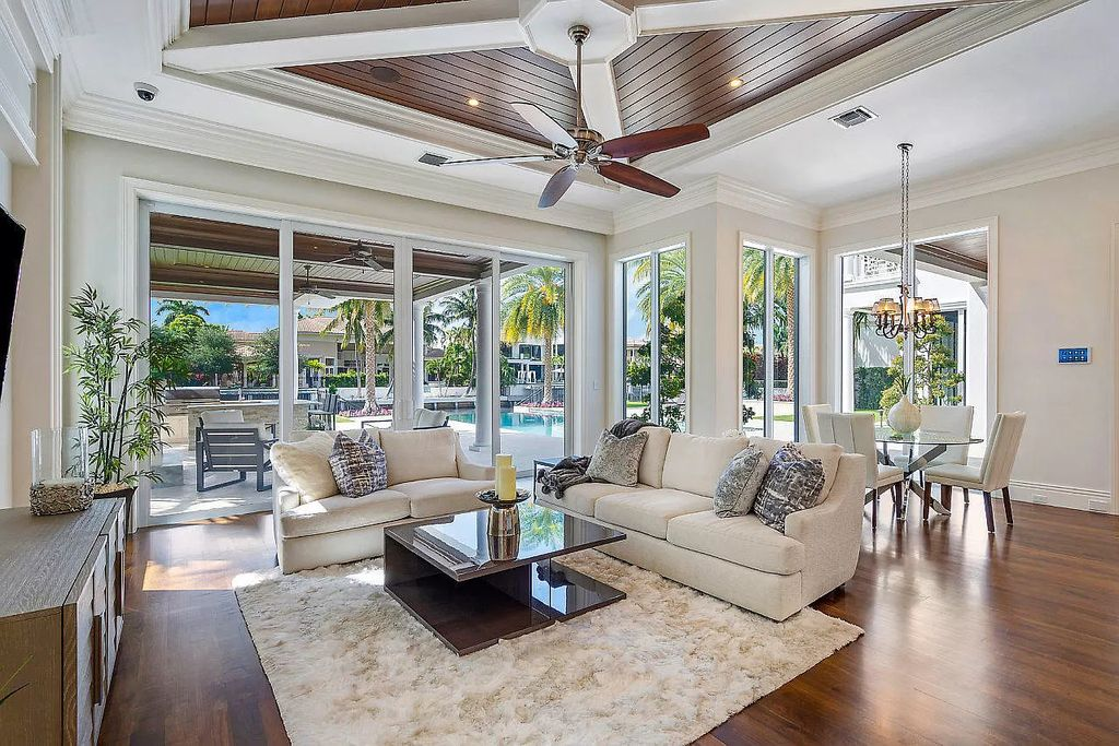 The Transitional Home in Boca Raton is a highly sought after newer custom waterfront estate with beautiful view of the outdoor oasis now available for sale. This home located at 311 E Key Palm Rd, Boca Raton, Florida; offering 6 bedrooms and 10 bathrooms with over 9,000 square feet of living spaces.