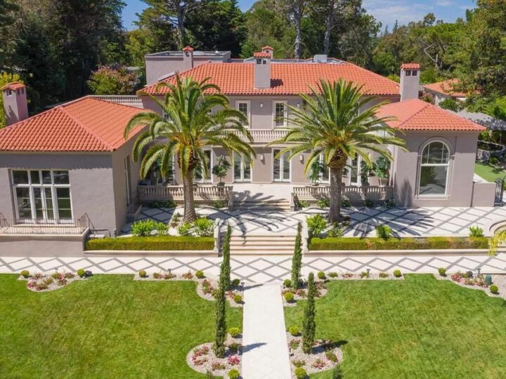 The Hillsborough Estate is a smart and secure dream home situated in one of the best locations in Hillsborough now available for sale. This home located at 1868 Floribunda Ave, Hillsborough, California; offering 8 bedrooms and 10 bathrooms with over 18,000 square feet of living spaces.