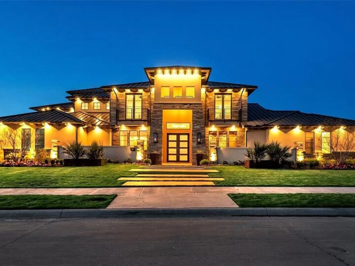 The Texas Home is a luxurious masterpiece situated in a prestigious, guard gated neighborhood with panoramic views now available for sale. This home located at 4012 Starling Dr, Frisco, Texas; offering 5 bedrooms and 7 bathrooms with over 9,800 square feet of living spaces.