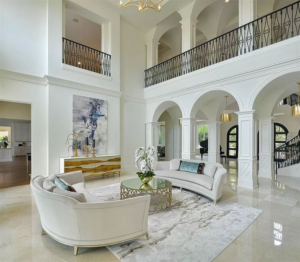 The Custom Home in Texas is a sophisticated Preston Hollow Estate masterfully custom built in 2018 on lushly landscaped now available for sale. This home located at 5400 Edlen Dr, Dallas, Texas; offering 5 bedrooms and 10 bathrooms with over 15,900 square feet of living spaces.