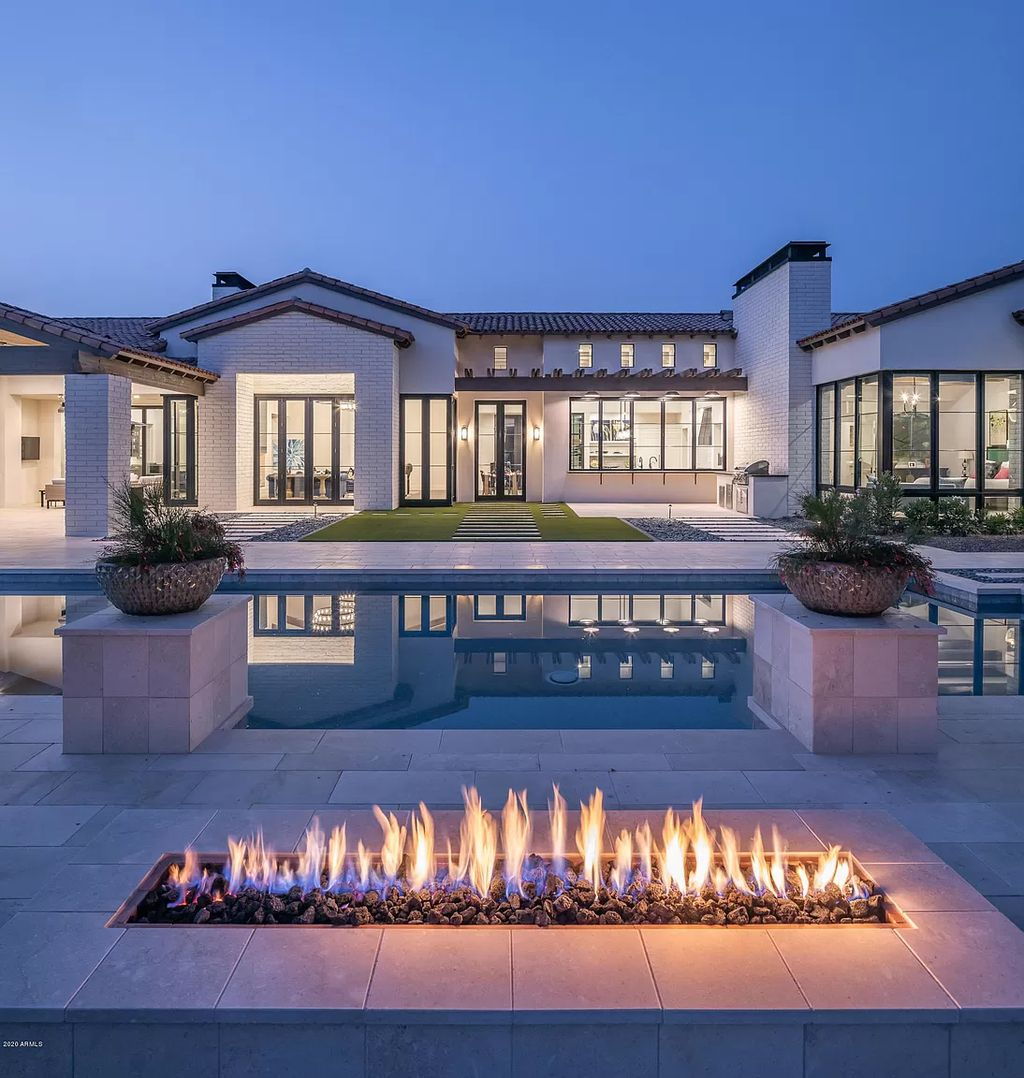 A Gorgeous Modern Hacienda in Coveted Paradise Valley listed for $5,195,000