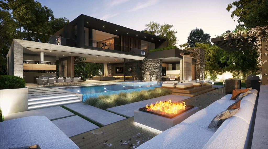 A Magical Hollywood Hills Mansion was conceptualized by CLR Design Group