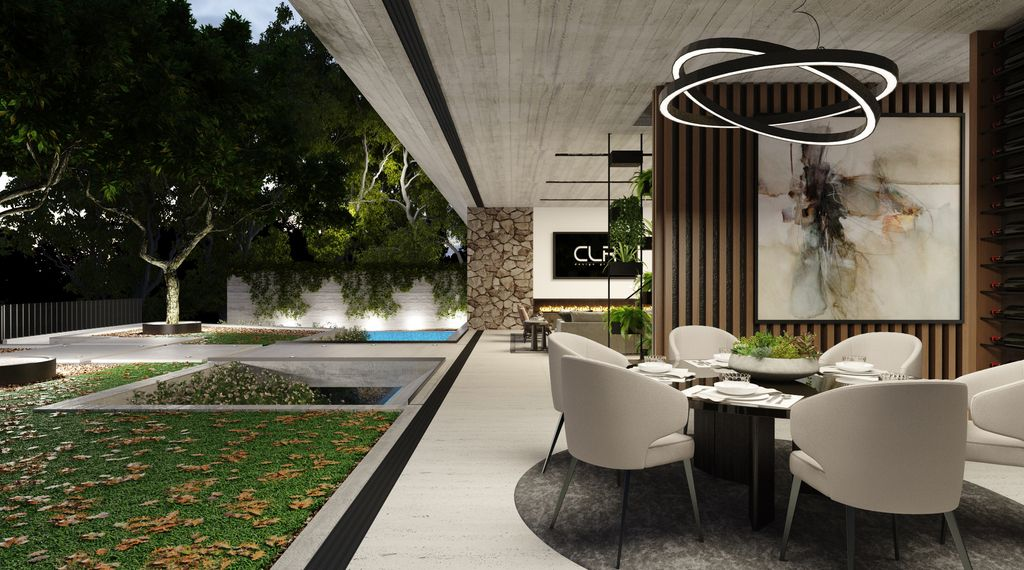 The Hollywood Hills Mansion is a project located on the best stretch of Celebrity Row above the Sunset Strip was conceptualized by CLR Design Group; it offers luxurious modern living of 5,700 square feet with 4 bedrooms and 6 bathrooms.