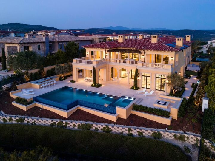 The Villa in Newport Beach is a newly constructed masterpiece boasting panoramic views overlooking the Pacific Ocean now available for sale. This home located at 16 Coral Rdg, Newport Beach, California; offering 7 bedrooms and 13 bathrooms with over 15,000 square feet of living spaces