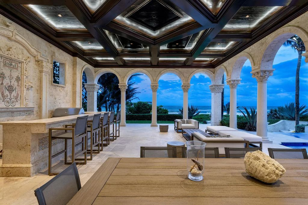 The Luxury Mansion in Delray Beach is a luxurious home with ocean views from major rooms, exotic materials, designer finishing now available for sale. This home located at 2325 S Ocean Blvd, Delray Beach, Florida; offering 9 bedrooms and 17 bathrooms with over 26,000 square feet of living spaces.