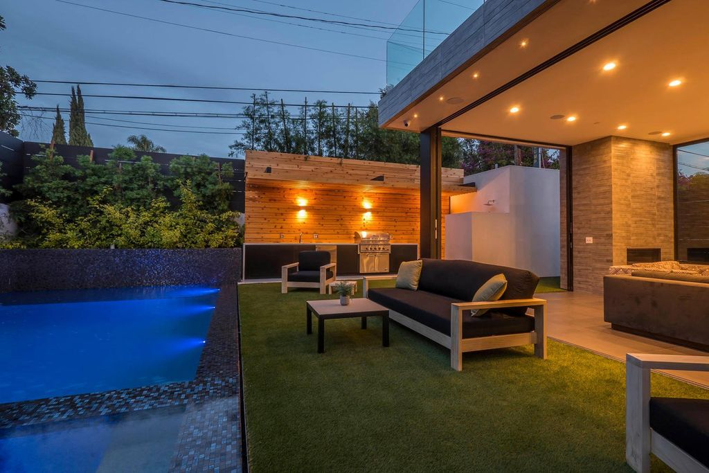 Architectural Newly home with over the top features in Los Angeles