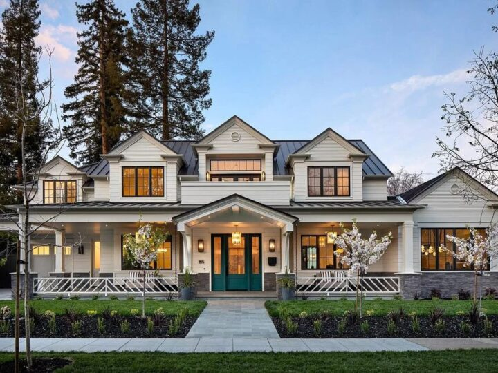 The New Construction Home in Palo Alto is an architecturally stunning Hamptons-style on a highly desired block now available for sale. This home located at 1975 Webster St, Palo Alto, California; offering 6 bedrooms and 6 bathrooms with over 6,000 square feet of living spaces.