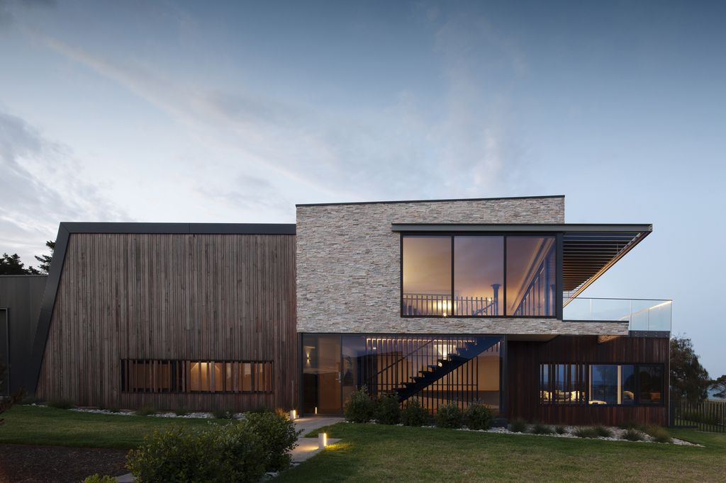 Sharp and Textural design of Rhyll in Australia by Jarchitecture Pty