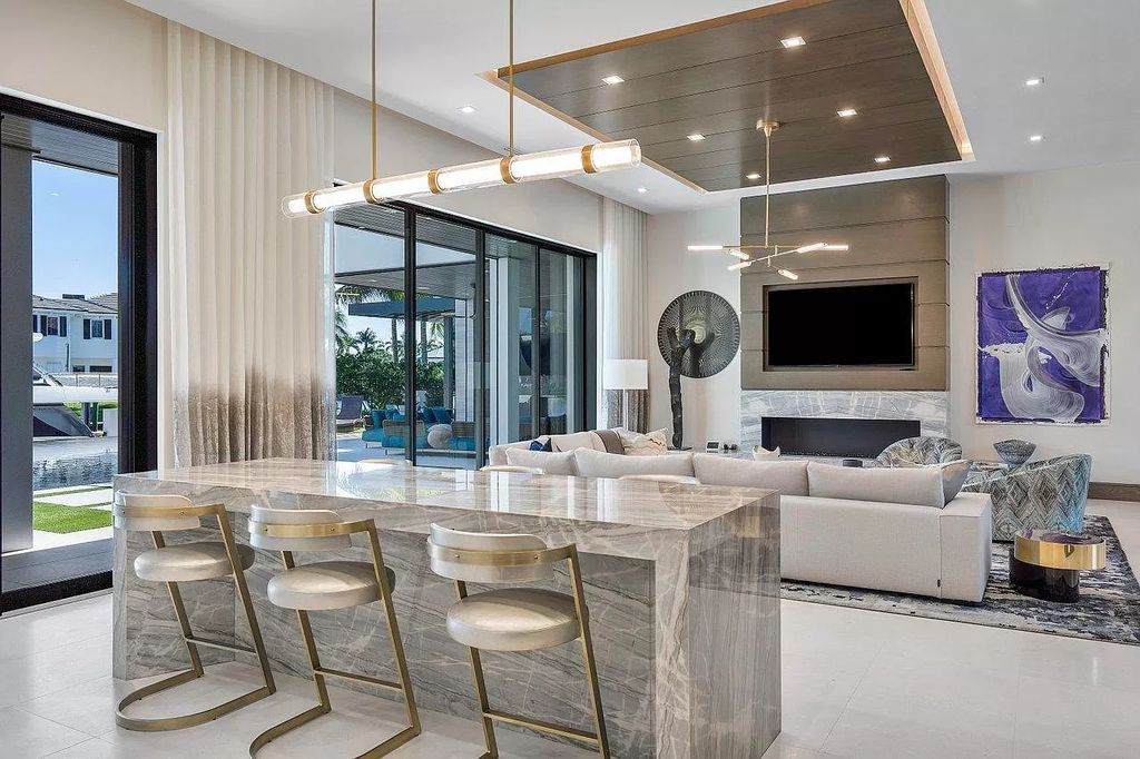 The New Construction Home in Boca Raton is a modern masterpiece was built at highest standards of luxury level now available for sale. This home located at 144 W Coconut Palm Rd, Boca Raton, Florida; offering 7 bedrooms and 10 bathrooms with over 8,500 square feet of living spaces.