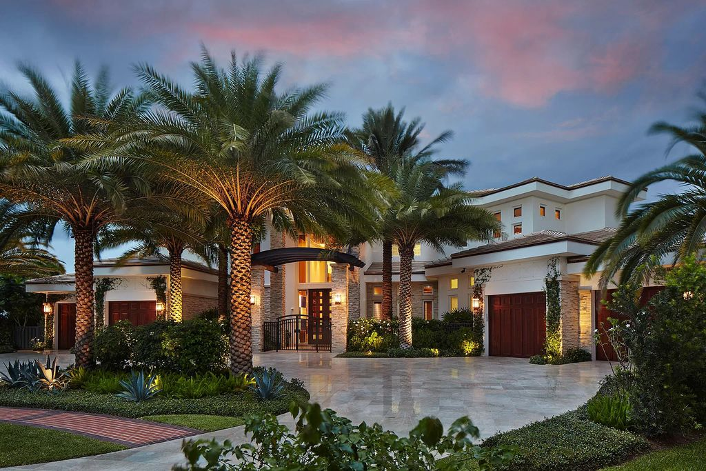 The Contemporary Home in Boca Raton is a magnificent custom built estate with finest materials defines the epitome of luxury now available for sale. This home located at 17727 Buckingham Ct, Boca Raton, Florida; offering 7 bedrooms and 11 bathrooms with over 9,400 square feet of living spaces.