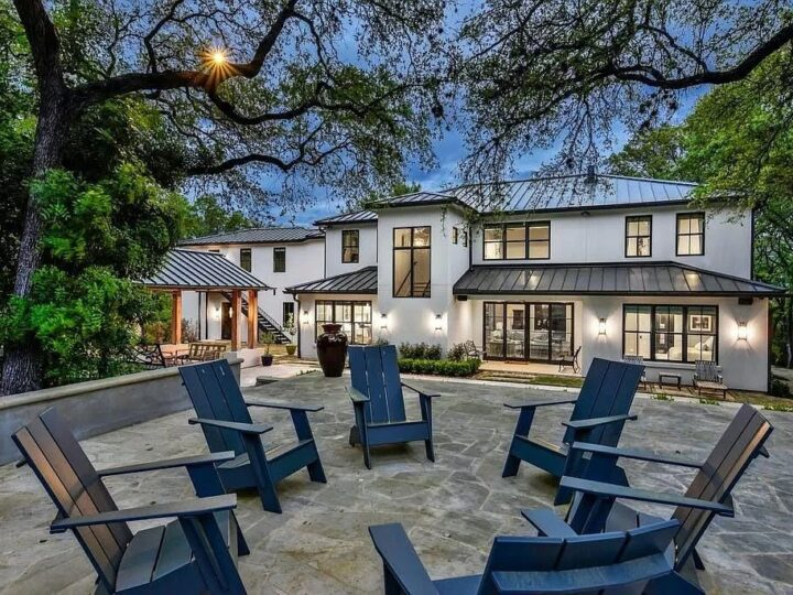 The gorgeous contemporary home in Austin is an elegant home which is privately gated for peace and security now available for sale. This home located at 3604 Westlake Dr, Austin, Texas; offering 5 bedrooms and 5 bathrooms with over 5,600 square feet of living spaces.