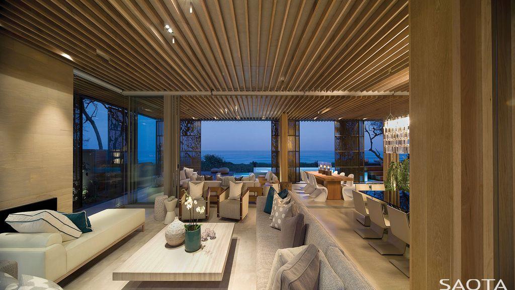 La Lucia House, A Delicate Seaside Retreat on Water's Edge by SAOTA