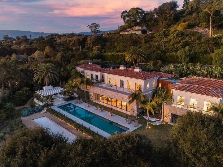 The Villa in Santa Barbara is a luxurious ocean view estate takes cues from Moroccan extravagance and minimalist design now available for sale. This home located at 4160 La Ladera Rood, Santa Barbara, California; offering 6 bedrooms and 8 bathrooms with over 11,000 square feet of living spaces.