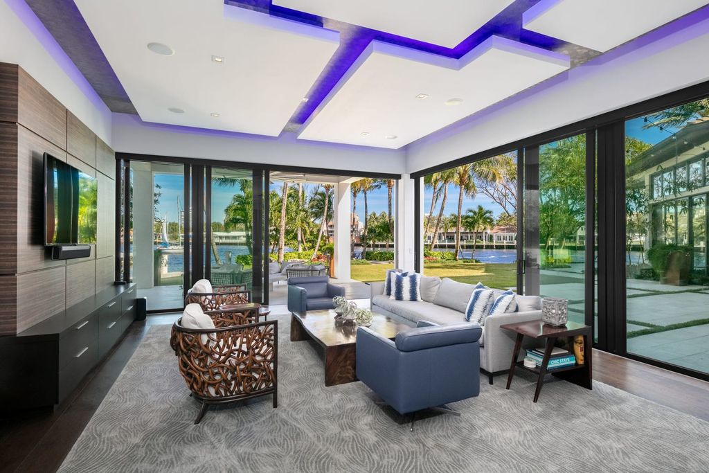The Contemporary Mansion in Florida is a magnificent Balinese inspired point lot estate overlooking the Intracoastal now available for sale. This home located at 141 Bay Colony Dr, Fort Lauderdale, Florida; offering 6 bedrooms and 9 bathrooms with over 10,000 square feet of living spaces.