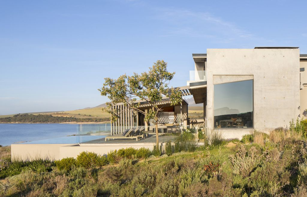 Panoramic Views of The Landscape with Benguela Cove House by SAOTA