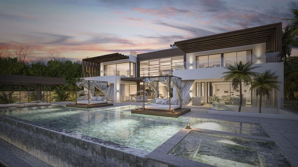 Concept Design of Villa Azar is a project located in Spain was designed in conceptual stage by B8 Architecture and Design Studio in Modern style; it offers luxurious modern living.