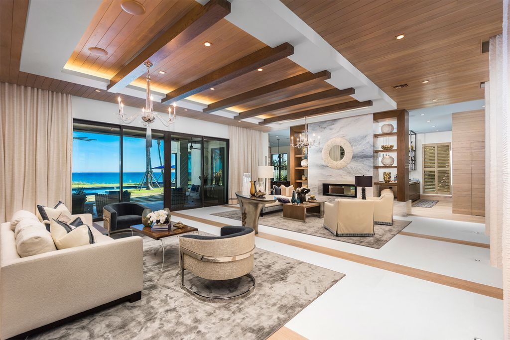 This Picturesque Ocean Views House in Florida built and designed by the award-winning team of Mark Timothy, Affiniti Architects, and Marc-Michaels Interior Design