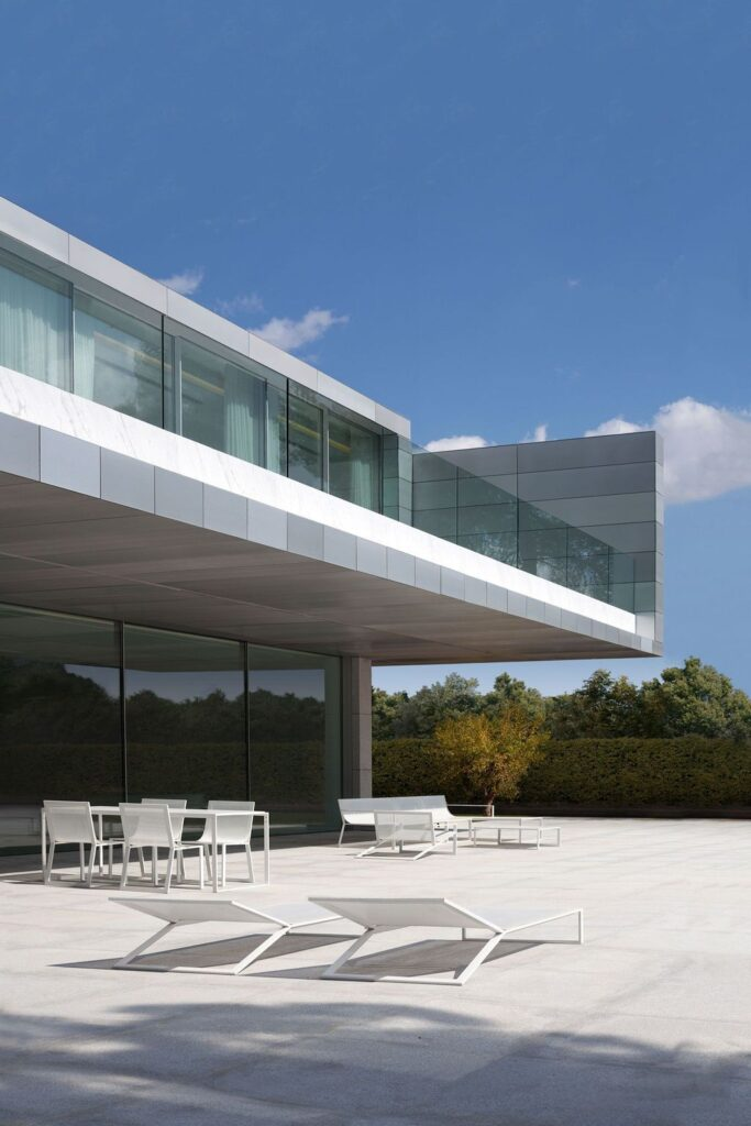 The Modern Two-storey Aluminum House by Fran Silvestre Arquitectos
