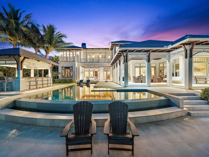 The North Palm Beach Home is a luxurious waterfront estate in one of the most desirable North Palm Beach neighborhoods now available for sale. This home located at 860 Lakeside Dr, North Palm Beach, Florida; offering 4 bedrooms and 7 bathrooms with over 6,500 square feet of living spaces.