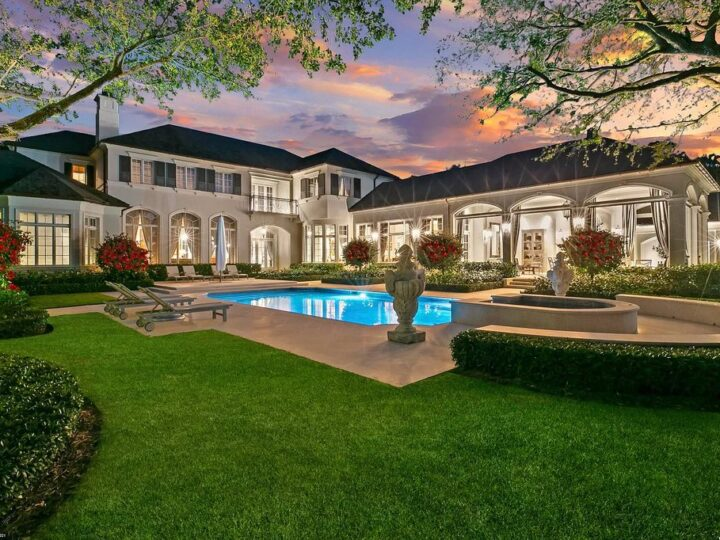 The Jupiter Home is an elegant French Country estate in one of the most sought over locations within The Bears Club now available for sale. This home located at 146 Bears Club Dr, Jupiter, Florida; offering 5 bedrooms and 10 bathrooms with over 10,000 square feet of living spaces.