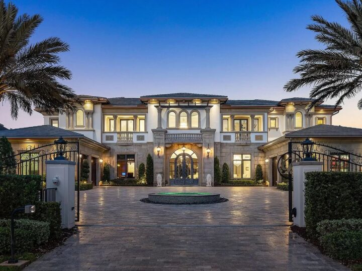 The Transitional Home in Florida is one of the finest homes ever built in Parkland Golf & Country Club now available for sale. This home located at 7262 Stonegate Blvd, Parkland, Florida; offering 6 bedrooms and 7 bathrooms with over 10,000 square feet of living spaces.