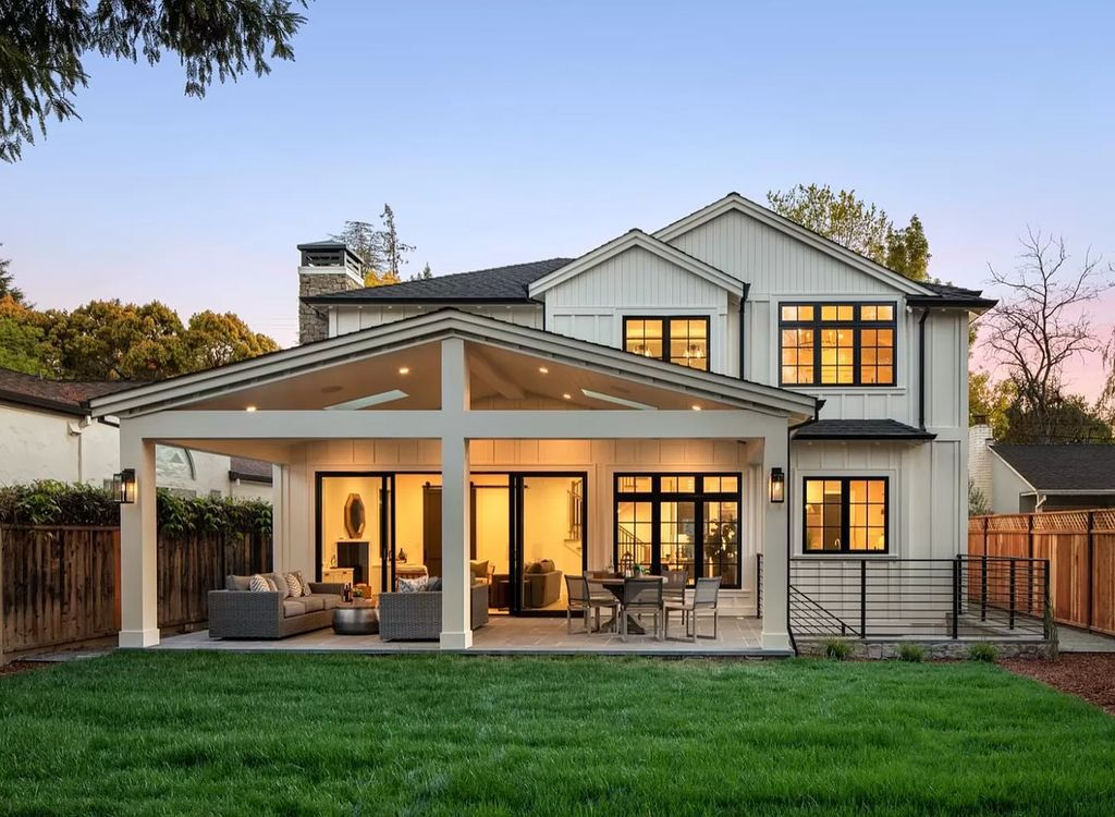 This $6,400,000 Menlo Park New Construction Home is Absolutely Stunning