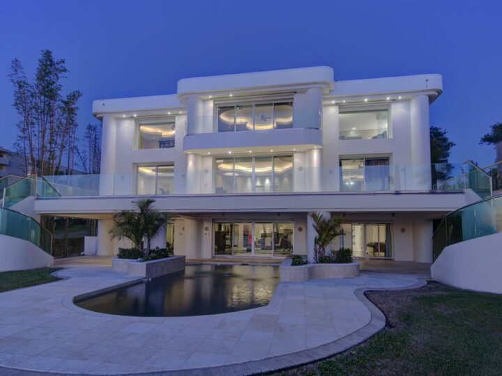 Timeless three level residence with unobstructed Clearwater Harbor views