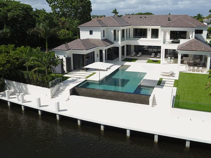 Waterfront Dreamscape Villa in Florida Built by SRD Building Corp