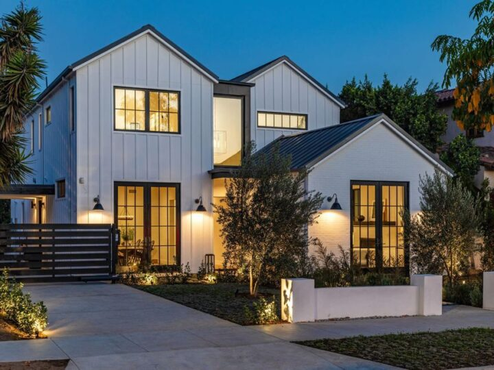 The Modern Farmhouse in Beverly Hills is a timeless, architectural custom-built estate with exclusive, high-end designer finishes now available for sale. This home located at 220 S Wetherly Dr, Beverly Hills, California