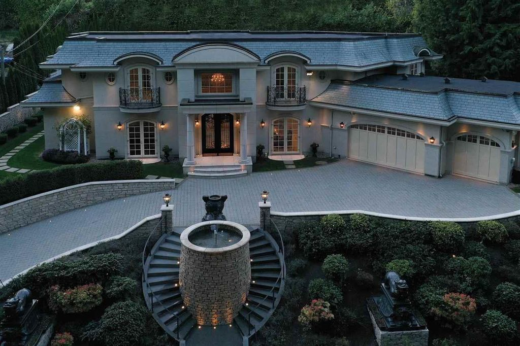 Impeccable European Mansion in West Vancouver lists for C$7,860,000