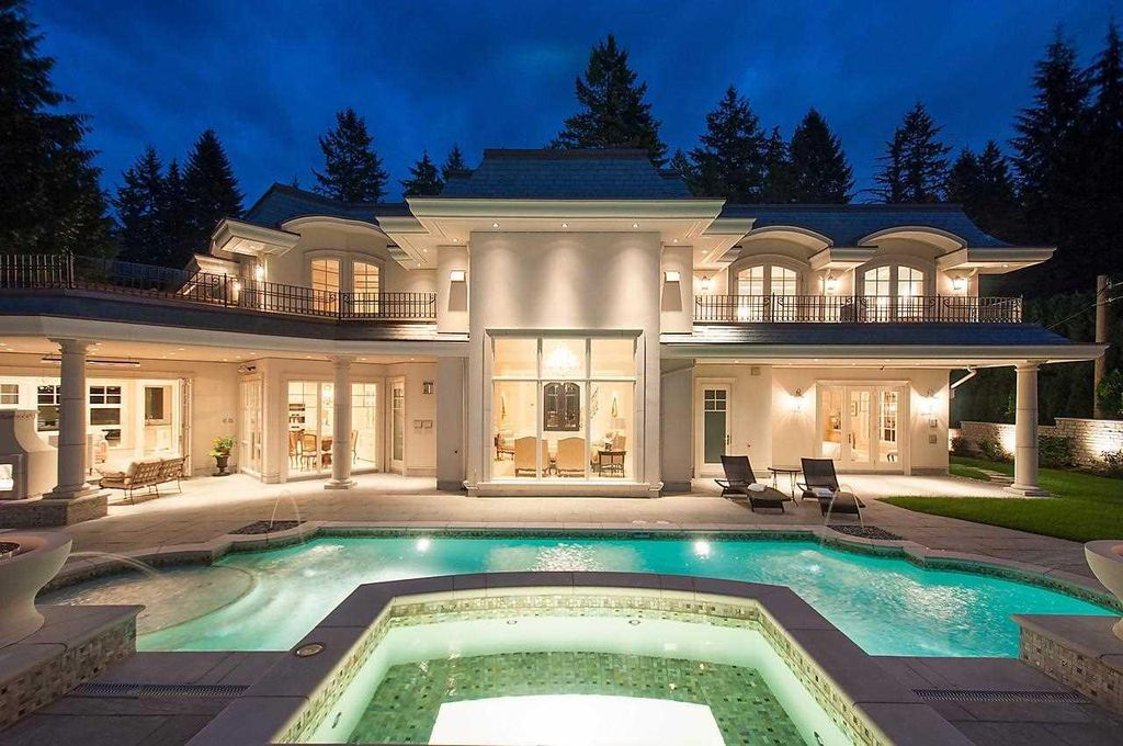 The Impeccable European Mansion in West Vancouver is an architectural masterpiece with a sensational pool & outdoor area ideal for entertaining now available for sale. This home located at 397 Southborough Dr, West Vancouver, BC V7S 1M3, Canada